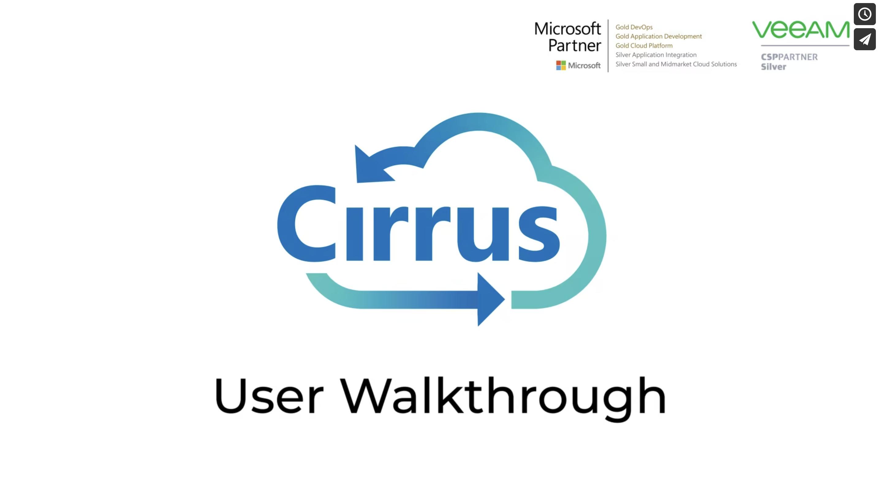 Cirrus Video Walkthrough Preview